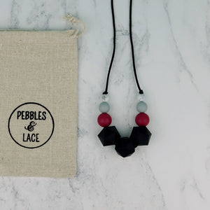 Mimosa: Stellar Teething Necklace - Pebbles and Lace