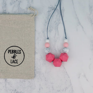 Sarin: Stellar Teething Necklace - Pebbles and Lace