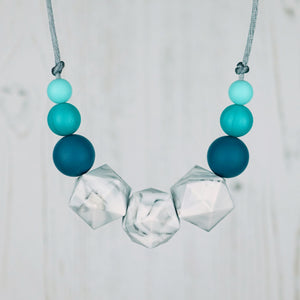 Talitha: Stellar Silicone Teething Necklace - Pebbles and Lace
