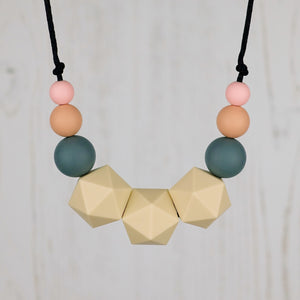 Libertas: Stellar Teething Necklace - Pebbles and Lace