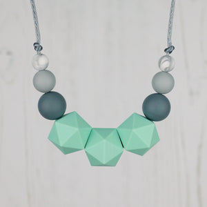Mintaka: Stellar Teething Necklace - Pebbles and Lace