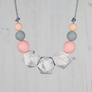 Capella: Stellar Teething Necklace - Pebbles and Lace