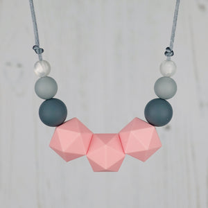 Vega: Stellar Teething Necklace - Pebbles and Lace