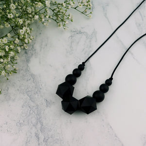 Copernicus: Stellar Teething Necklace - Pebbles and Lace