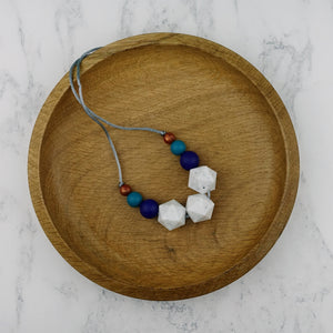 Zaniah: Stellar Teething Necklace - Pebbles and Lace