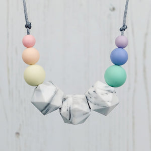 Maia: Stellar Teething Necklace - Pebbles and Lace