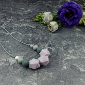 Polaris: Stellar Teething Necklace - Pebbles and Lace