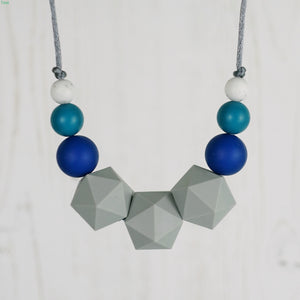 Ascella: Stellar Teething Necklace - Pebbles and Lace