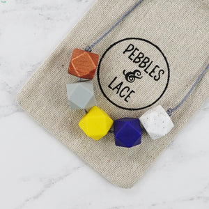 London: Take Five Teething Necklace - Pebbles and Lace