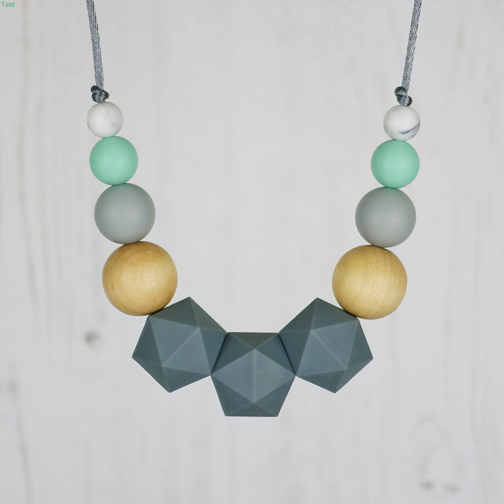 The Caterpillar: Wonderland Teething Necklace
