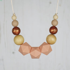 Dormouse: Wonderland Teething Necklace - Pebbles and Lace