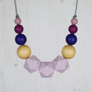 The Duchess: Wonderland Teething Necklace - Pebbles and Lace