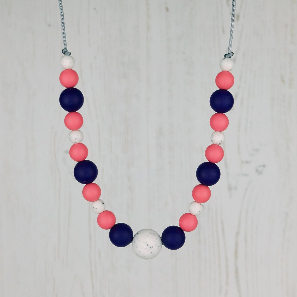 Watermelon Crush: Waves Teething Necklace