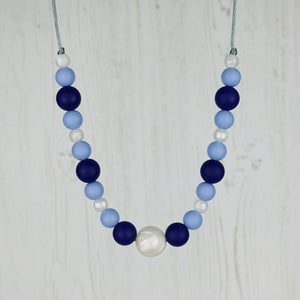 Ocean Pearls: Waves Teething Necklace - Pebbles and Lace