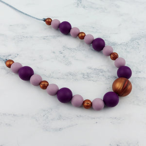 Plum Perfection: Waves Teething Necklace - Pebbles and Lace