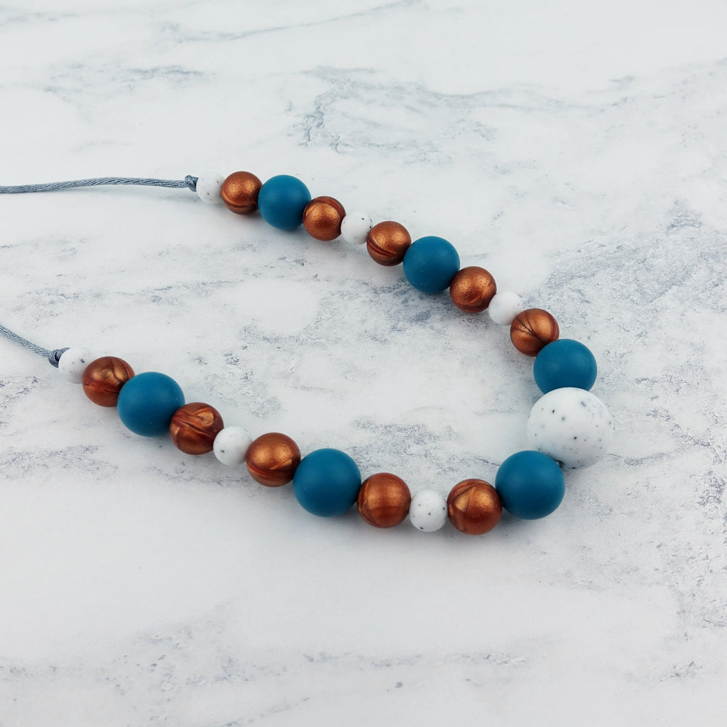 Copper Ocean: Waves Teething Necklace