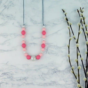 Summer Sorbet: Waves Teething Necklace - Pebbles and Lace