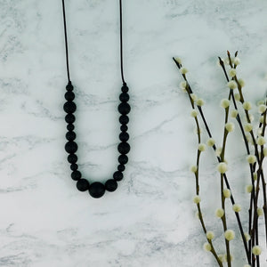 Midnight: Waves Teething Necklace - Pebbles and Lace