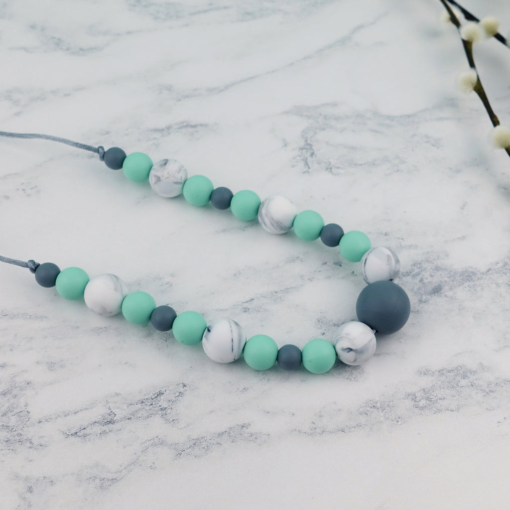 Mint Leaf: Waves Teething Necklace