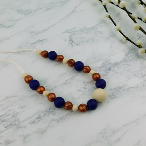 Nautical Mile: Waves Teething Necklace - Pebbles and Lace