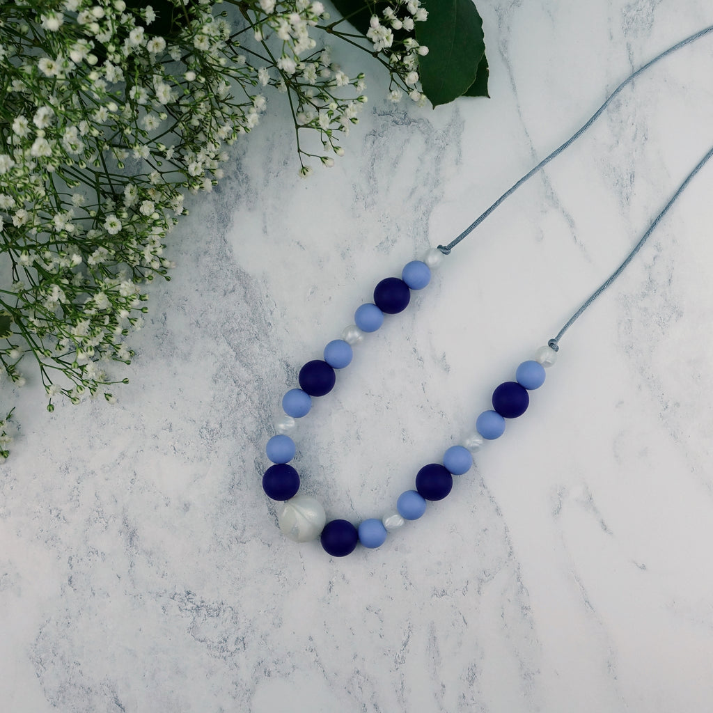 Ocean Pearls: Waves Teething Necklace