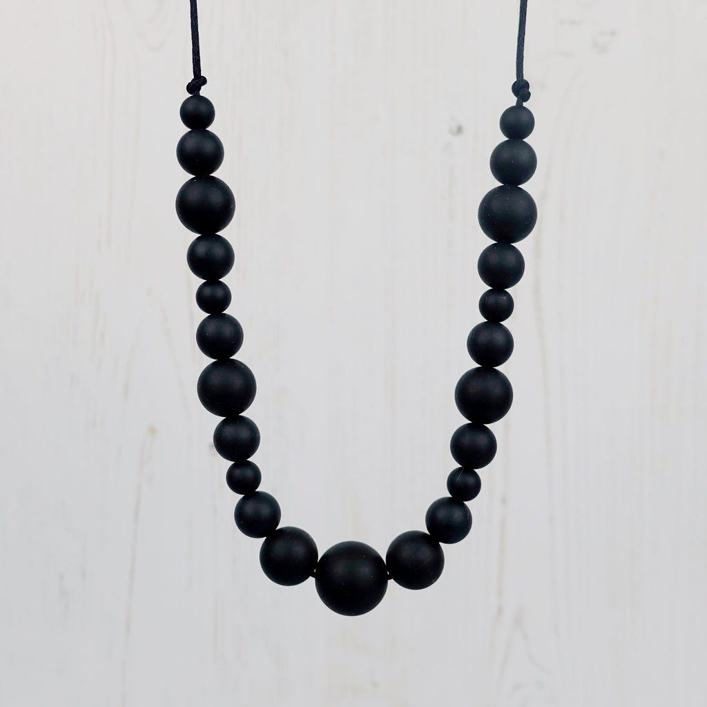 Midnight: Waves Teething Necklace