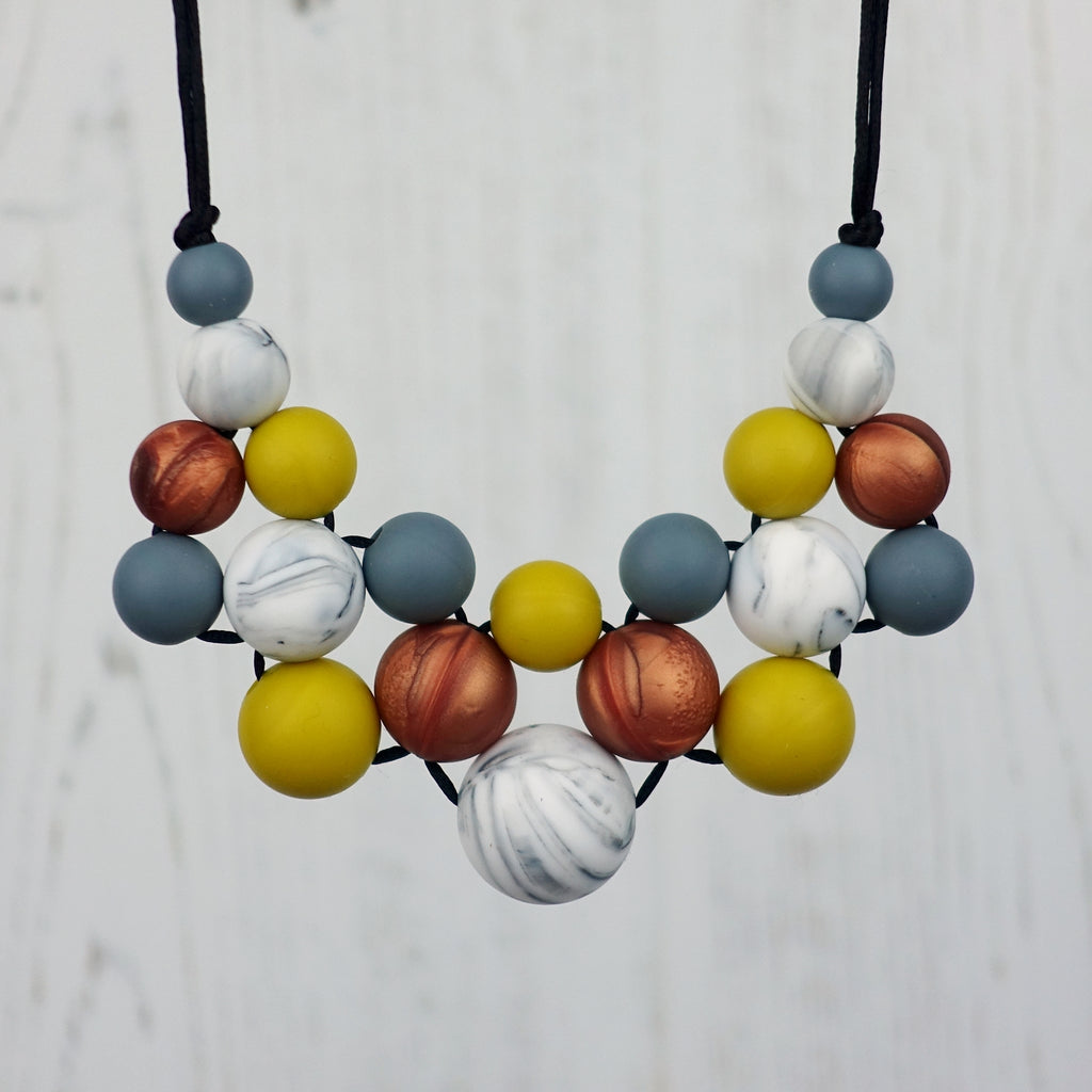 Autumn Days: Woven Silicone Teething Necklace