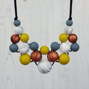 Autumn Days: Woven Teething Necklace - Pebbles and Lace