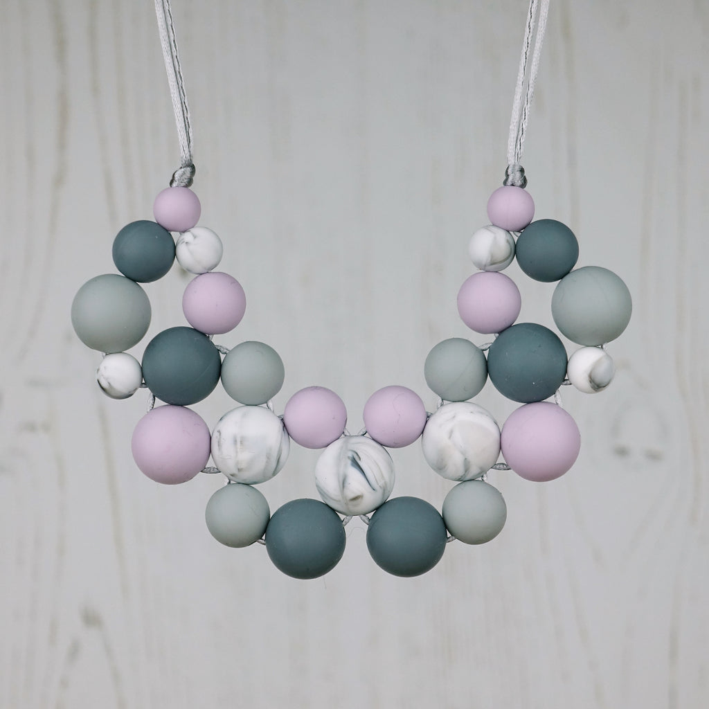 Lucky Lavender: Woven Teething Necklace
