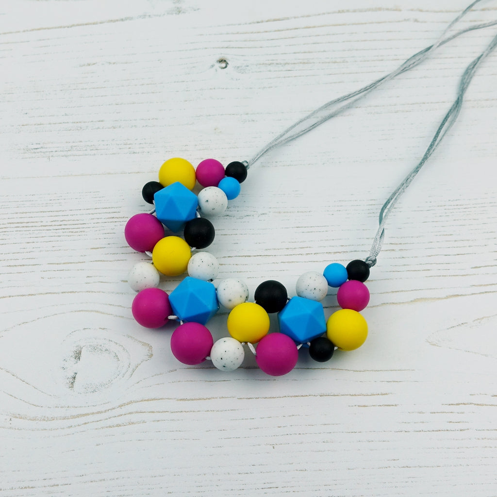 Liquorice Allsorts: Woven Teething Necklace