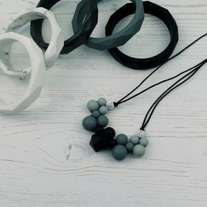 Moon Beam: Woven Teething Necklace - Pebbles and Lace