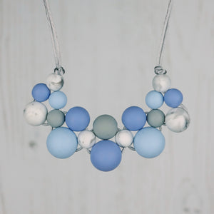 Snowy Morning: Woven Teething Necklace