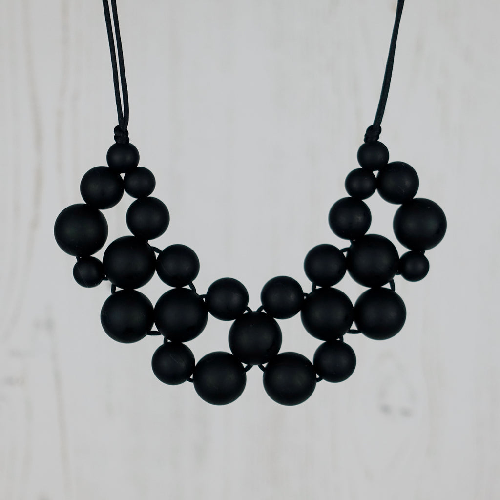 Midnight Love: Woven Teething Necklace