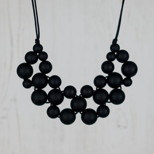 Midnight Love: Woven Teething Necklace - Pebbles and Lace