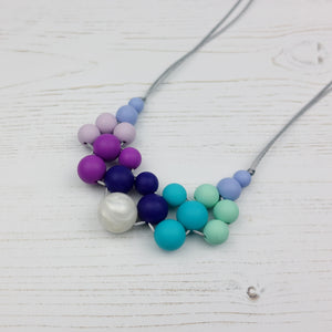 Elysium: Woven Teething Necklace - Pebbles and Lace
