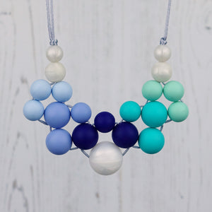 Nirvana: Woven Teething Necklace [Various Colour Options] - Pebbles and Lace