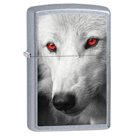 Wolf With Red Eyes