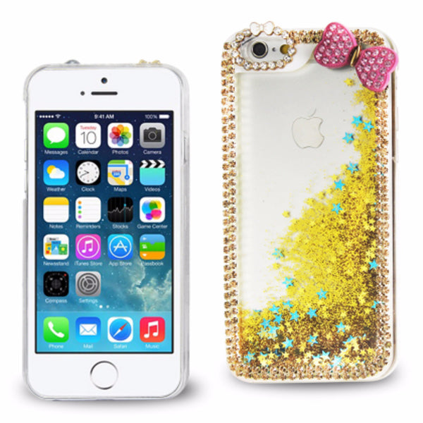 Reiko 3D DIAMOND PROTECTOR COVER FOR iPhone 6 Plus/ 6S Plus 5.5 inches BUTTERFLY GOLD - Mmetr