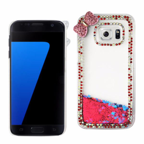 Reiko Samsung Galaxy S7 3D Diamond Protector Cover With Butterfly - Mmetr