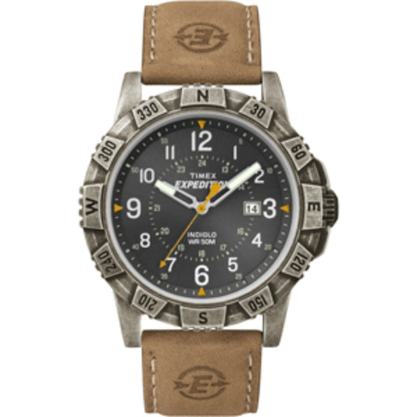Timex Expedition Rugged Metal Field Watch - Black/Tan - Mmetr