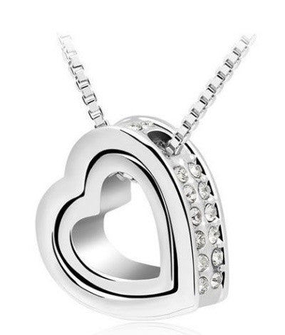Heart Crystal Necklace & Pendant - Mmetr
