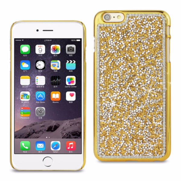 Reiko iPhone6/6S Plus 5.5inch Diamond Protector Cover Gold - Mmetr