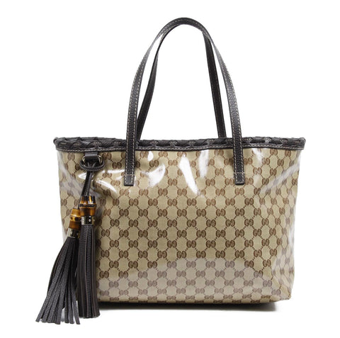 Gucci GG tote Coated Canvas Bamboo Bag