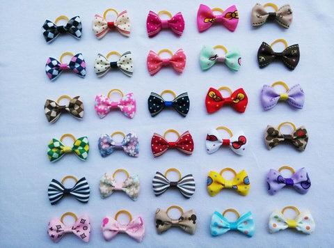 Hairpin Dog Grooming Accessories Boutique - 20pc Small Dog Hair Bows
