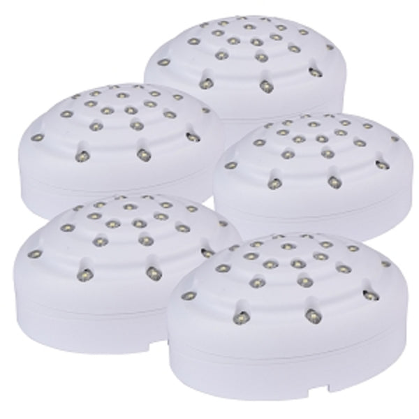 AmerTac Amerelle LED Accent Puck Lighting Kit with 5 LED Lamps (White) - Mmetr