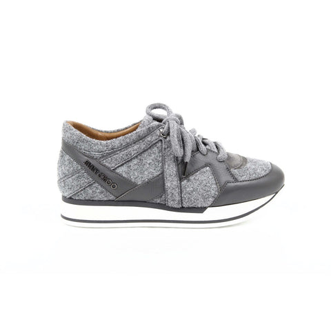 Jimmy Choo Womens Sneaker LONDON FELT/NAPPA MIST