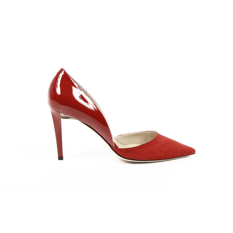 Jimmy Choo Womens Pump DARYLIN SUEDE/PATENT RED