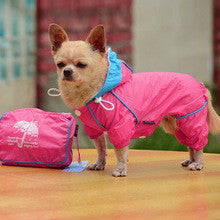 Pet Jumpsuit Raincoat w/Hoodie