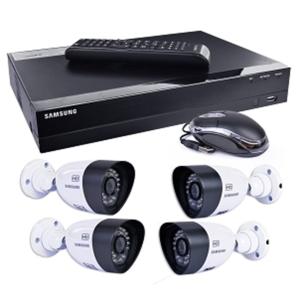 Samsung SDH-B3040 4-Ch 1TB 720p HD DVR Video Security System w/4 Night-Vision & Weatherproof 720 Line Resolution Cameras - Mmetr
