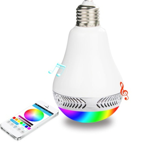 Reiko Bluetooth Spectrum LED Light Bulb with Audio Speaker - Mmetr
